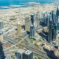 Buy canvas prints of Burj Khalifa view on Dubai skyscrapers by Nicolas Boivin