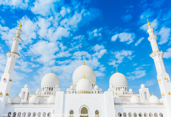 Sheikh Zayed grand mosque Acrylic by Nicolas Boivin