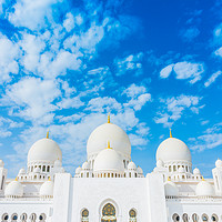 Buy canvas prints of Sheikh Zayed grand mosque by Nicolas Boivin
