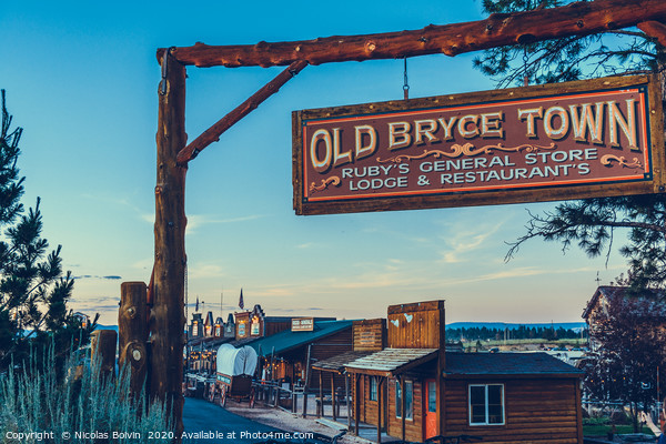Old Bryce Town Canvas Print by Nicolas Boivin