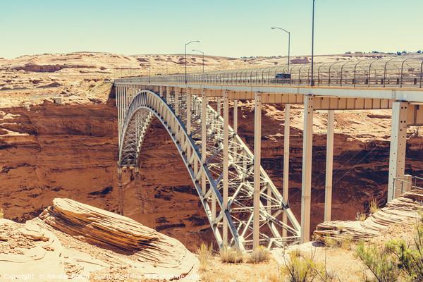 Glen Canyon Dam Bridge Framed Mounted Print by Nicolas Boivin