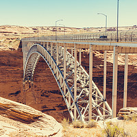 Buy canvas prints of Glen Canyon Dam Bridge by Nicolas Boivin