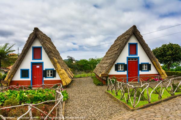 Traditional house in Santana Print by Nicolas Boivin