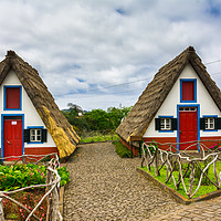 Buy canvas prints of Traditional house in Santana by Nicolas Boivin