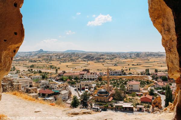 Cappadocia cave town Print by Sanga Park