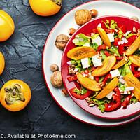 Buy canvas prints of Salad with persimmon by Mykola Lunov Mykola