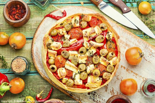 Homemade cheese and pepper pie Framed Print by Mykola Lunov Mykola