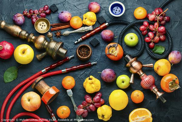 Turkish hookah on fruits Acrylic by Mykola Lunov Mykola