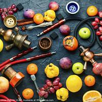 Buy canvas prints of Turkish hookah on fruits by Mykola Lunov Mykola