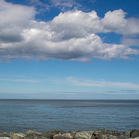 Buy canvas prints of Irish Sea Cloudscape by chris hyde