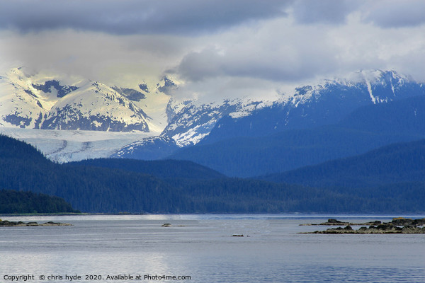 Alaskan Mountain Scene Print by chris hyde