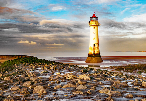 New Brighton Lighthouse Print by chris hyde