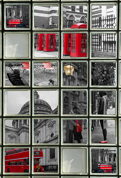 Window on London Sights Canvas print by David French