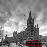Buy canvas prints of St Pancras Station BW by David French