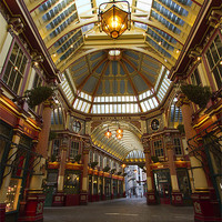 Buy canvas prints of Leadenhall Market London by David French