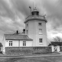 Buy canvas prints of Trinity House Lighthouse BW by David French