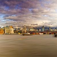 Buy canvas prints of London  Skyline Waterloo  Bridge by David French