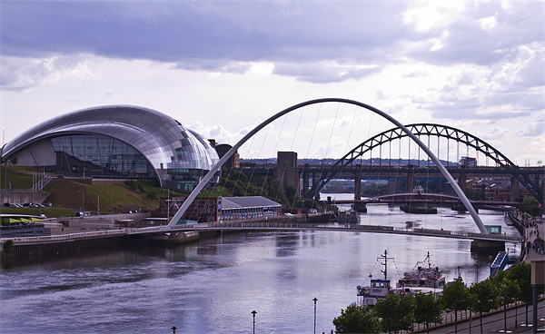 Newcastle river Tyne Canvas print by David French