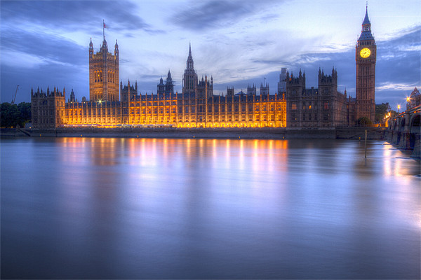Big Ben and the houses of Parliament Canvas print by David French