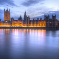Buy canvas prints of Big Ben and the houses of Parliament by David French