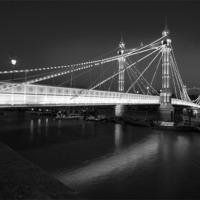 Buy canvas prints of Albert Bridge at Dusk by David French