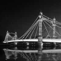 Buy canvas prints of Albert Bridge at Night by David French