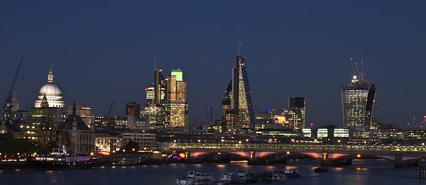 London City Skyline Canvas print by David French