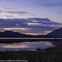 Buy canvas prints of Sunset at Derwent Water by David Thomas