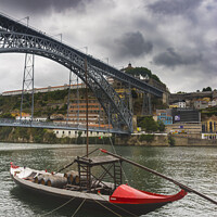 Buy canvas prints of Boat and bridge by Vicente Sargues