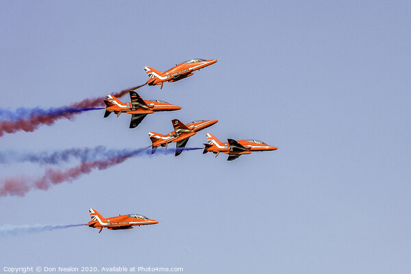 Red Arrows display Print by Don Nealon