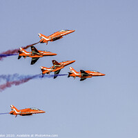 Buy canvas prints of Red Arrows display by Don Nealon