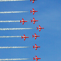 Buy canvas prints of Red arrow display team by Don Nealon