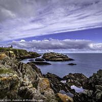 Buy canvas prints of Slains Castle sea view by Don Nealon