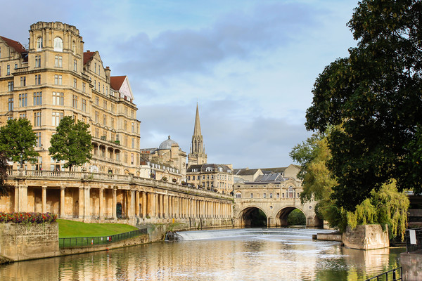 City of Bath Acrylic by Pete Evans