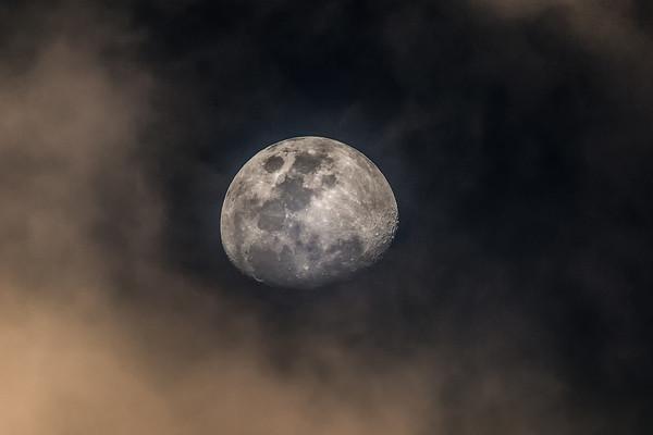 Moon over Australia Acrylic by Pete Evans