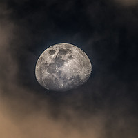 Buy canvas prints of Moon over Australia by Pete Evans