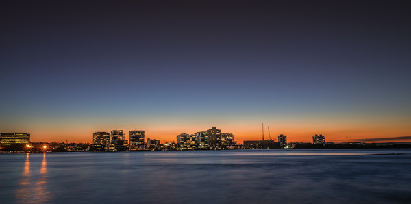Sunset at Cotton Tree Canvas Print by Pete Evans