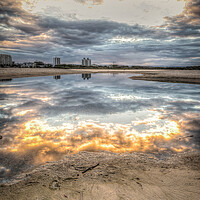 Buy canvas prints of Reflections at Sunset by Pete Evans