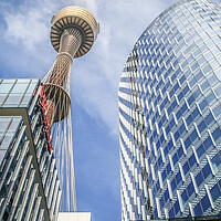 Buy canvas prints of The Sydney Tower by Pete Evans