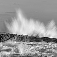Buy canvas prints of Big waves in black and white by Arpad Radoczy