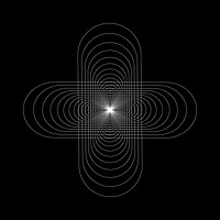 Buy canvas prints of White geometry shapes on black background by Arpad Radoczy