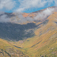 Buy canvas prints of Pyrenees mountain from Catalonia of Spain in a sunny day, beautiful cumulus clouds by Arpad Radoczy