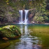 Buy canvas prints of Santa Margarita waterfall by Arpad Radoczy