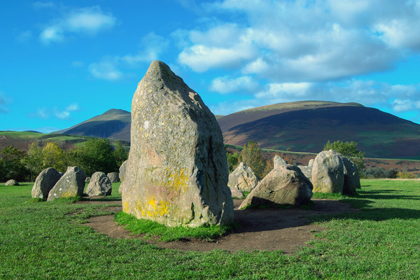Castlerigg Stone Circle, Cumbria UK  Framed Mounted Print by Roger Driscoll