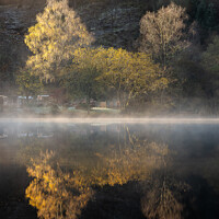 Buy canvas prints of Misty Autumn at Loch Ard, Trossachs by Chris Lauder