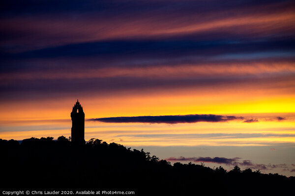 Wallace Monument sunset Canvas Print by Chris Lauder