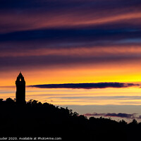 Buy canvas prints of Wallace Monument sunset by Chris Lauder