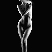 Buy canvas prints of Bodyscape Nude young woman by Alessandro Della Torre