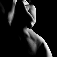 Buy canvas prints of black and white bodyscape of nude girl by Alessandro Della Torre