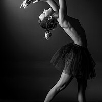 Buy canvas prints of nude balllerina classic dancer doing classical dan by Alessandro Della Torre